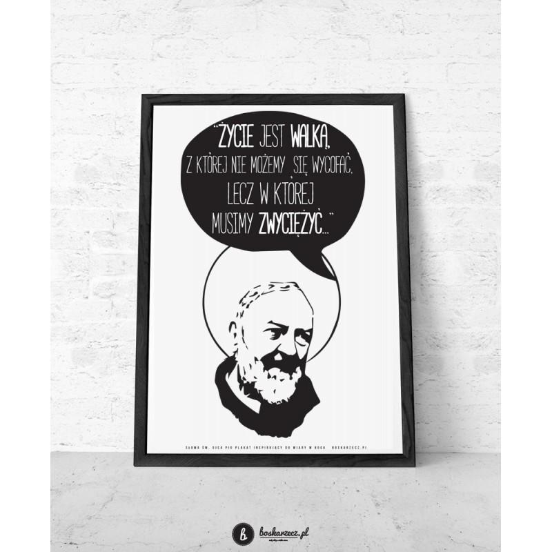 Plakat Cytaty świętych św Ojciec Pio